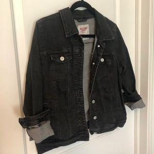 Black stretchy jean jacket